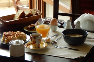 Traditional breakfast, Rastoni Guesthouse, Pelio, hotels, rooms, accommodation, Vyzitsa, Milies, Greece